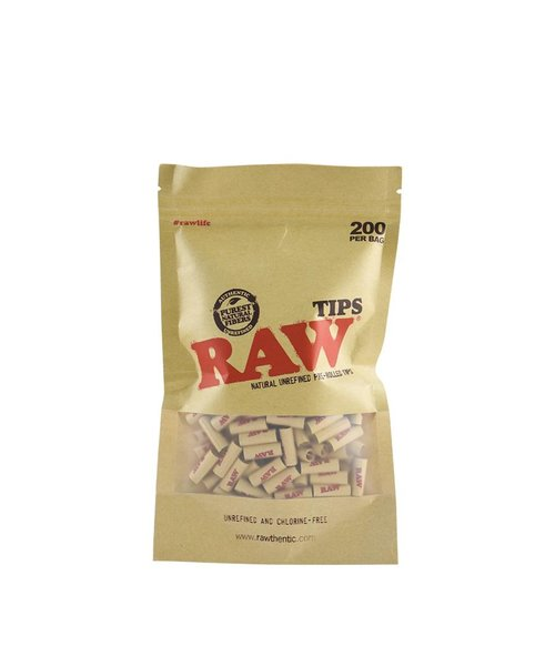 Raw 200 Pre-Rolled Tips –  Unbleached