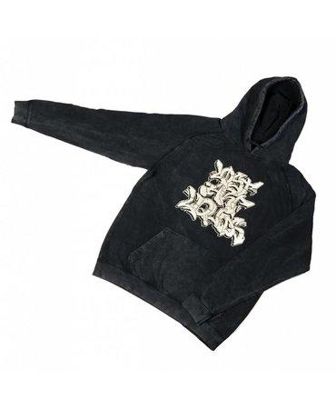 Lost Art Vintage Black Raglan Sleeve Hoodie