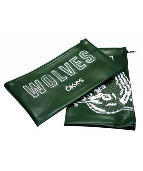WOLVES MONEY BAG (GREEN)