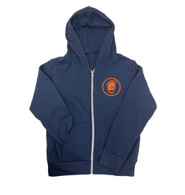 Hooded Full-Zip Sweatshirt Youth Navy