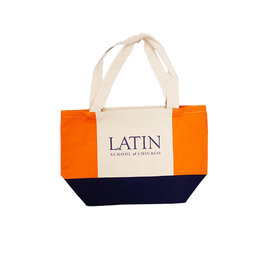 16 oz Cotton Tote Orange Blue