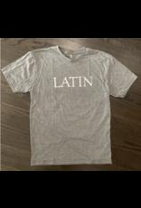 T-Shirt SS Triblend Gray LATIN White