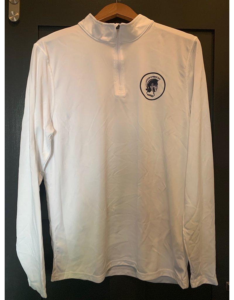 Pullover 1/4 Zip White