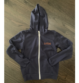 Hooded Full-Zip Sweatshirt Youth Navy LATIN