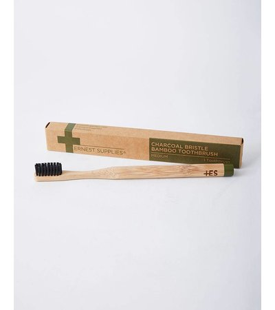 Ernest Supplies CHARCOAL BAMBOO TOOTHBRUSH