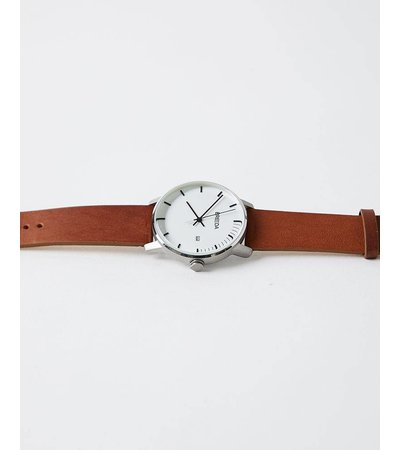 Breda SILVER AND BROWN PHASE WATCH