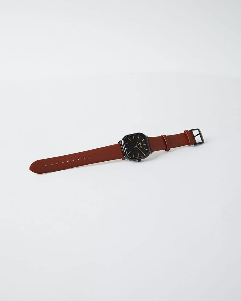 Breda VISSER SQUARE LEATHER WATCH