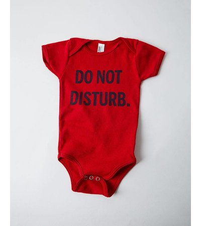 13 Bricks DO NOT DISTURB RED ONESIE