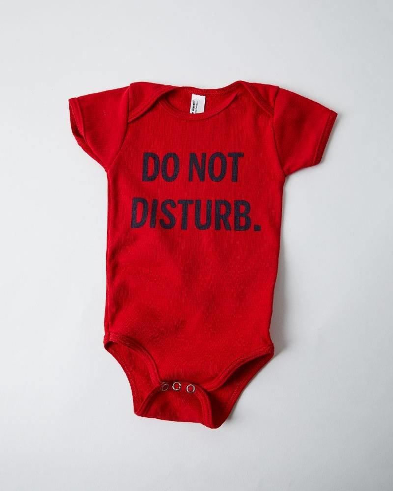 DO NOT DISTURB RED ONESIE