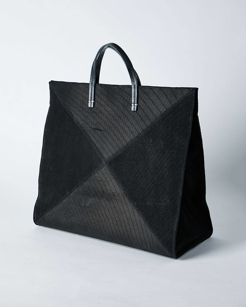Clare V SIMPLE TOTE - SUEDE PATCHWORK X BLACK