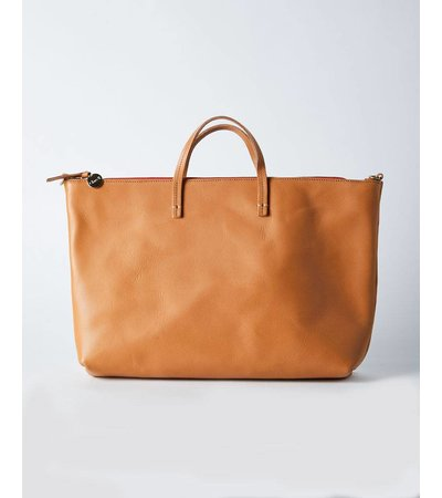 Clare V ATTACHE SUPREME TOTE BAG CUOIO