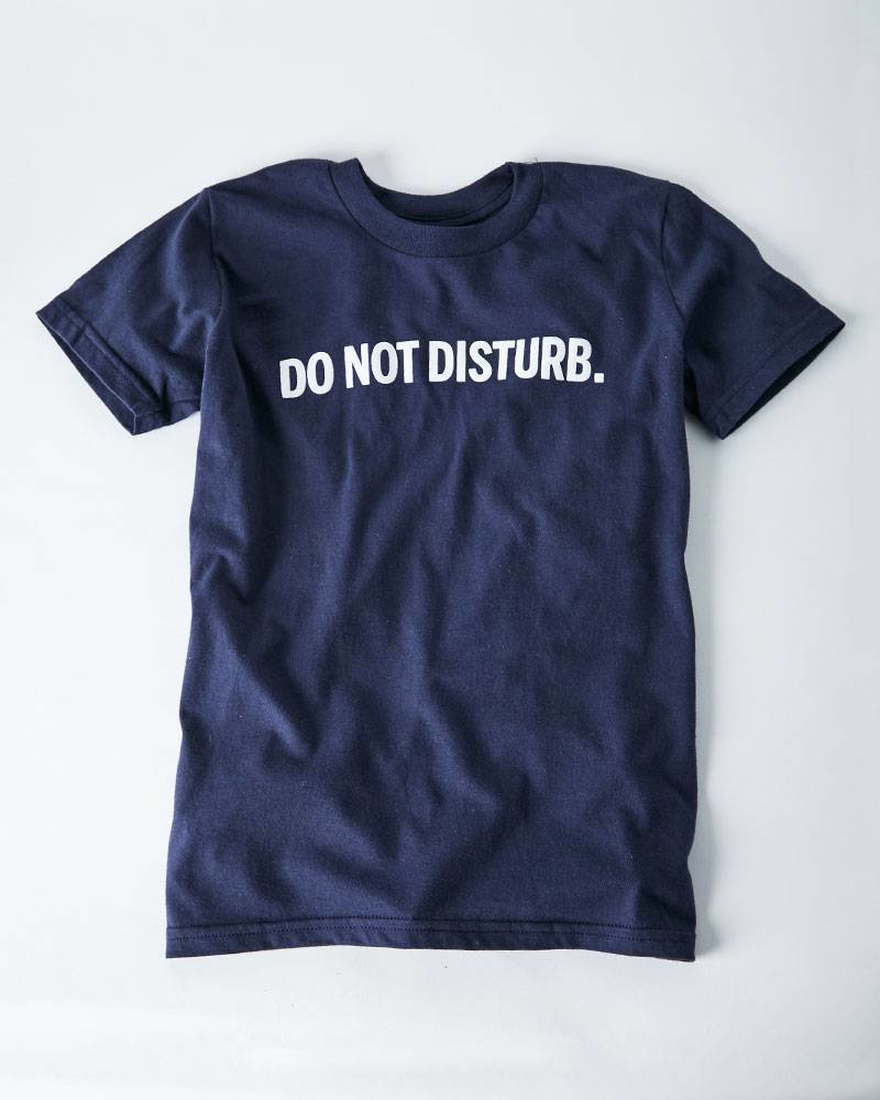 DO NOT DISTURB NAVY YOUTH TEE