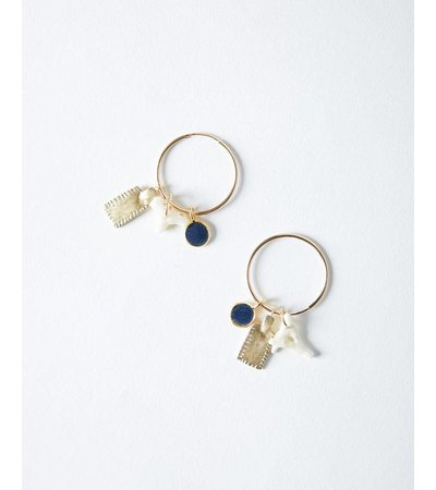 LAPIS SHANI EARRINGS