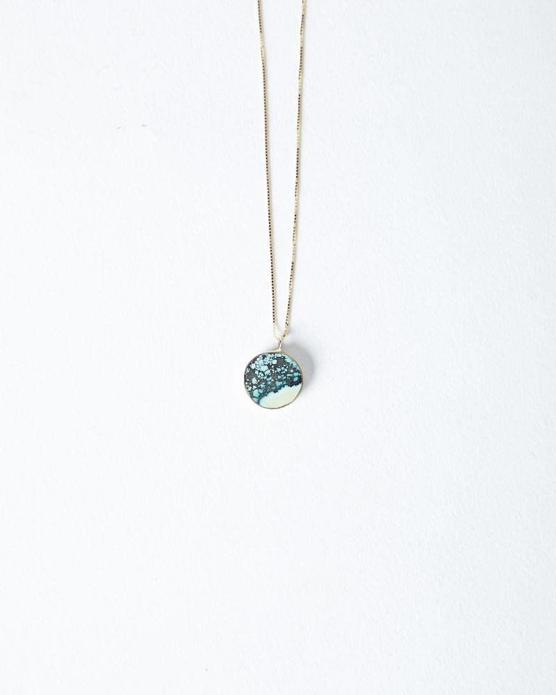 Young In The Mountains CIRC NECKLACE TURQOUISE