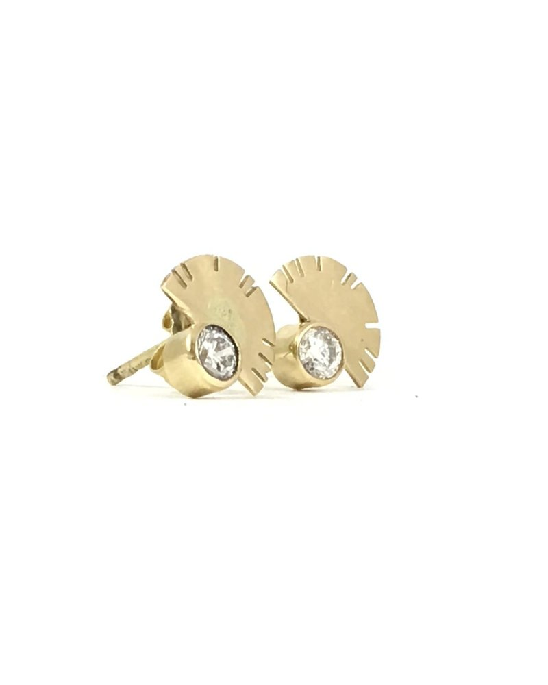 Young In The Mountains Aquila Earrings Gold