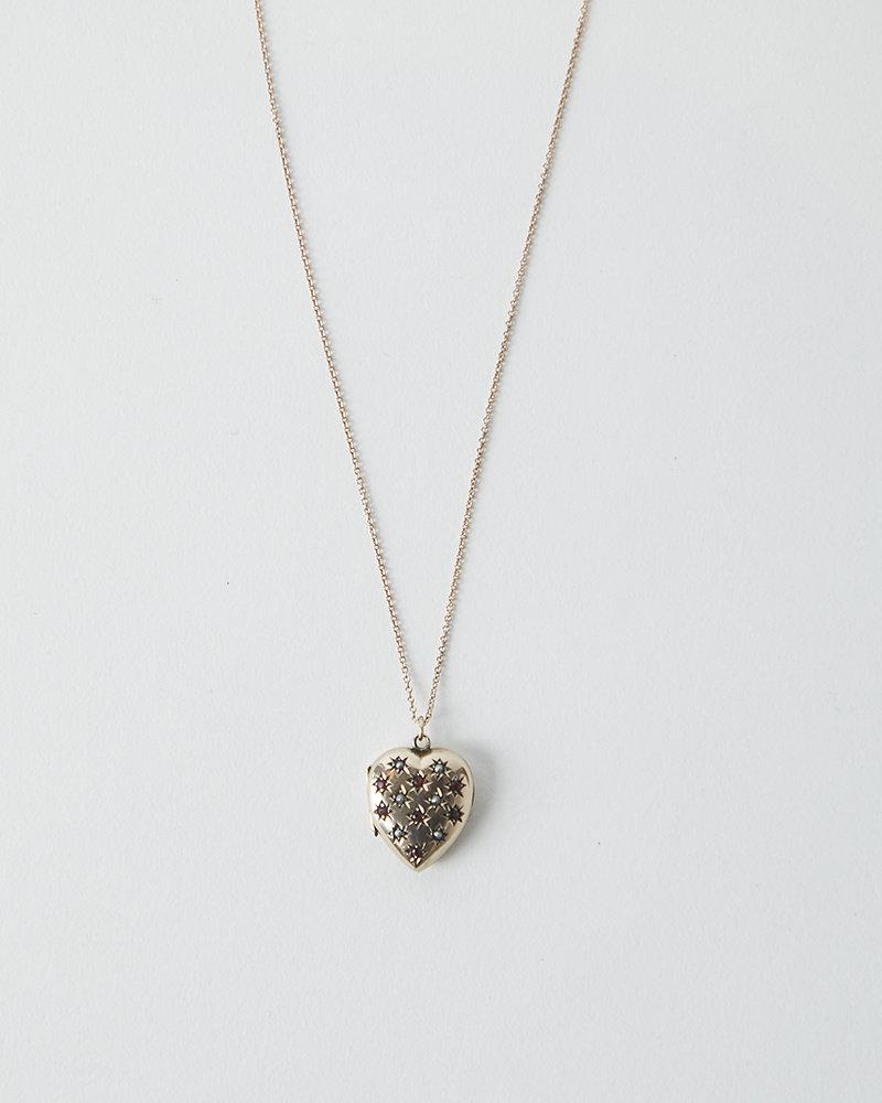 Vintage VINTAGE ROSE GOLD HEART LOCKET