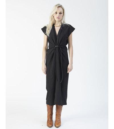 Miranda Bennett KNOT DRESS - BLACK