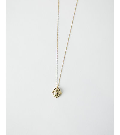 La2L SAUTOIR SCARAB NECKLACE – GOLD
