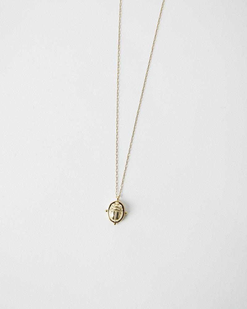 La2L SAUTOIR SCARAB NECKLACE – GOLD
