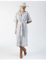 MIRTH SYDNEY BIRD BLOCK DRESS