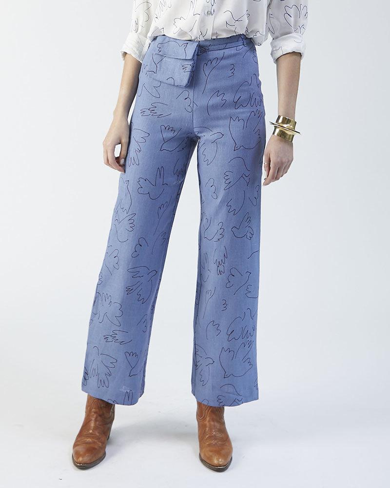 Paloma Wool BLUE BIRD SUIT PANTS