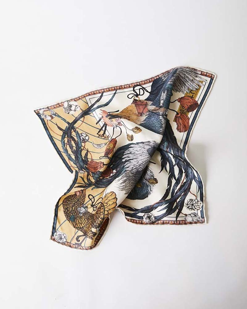 Sabina Savage The Roosters Dance Scarf - Small - Amber/Sand
