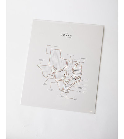 42 Pressed TEXAS STATE PRINT