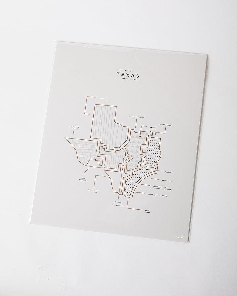 42 Pressed Texas State Print