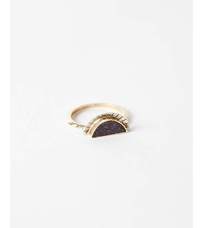Young In The Mountains DINO BONE SELENE RING
