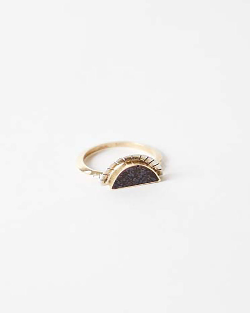 Young In The Mountains Dino Bone Ring Selene