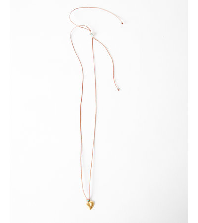 River Song GOLDEN HEART MILAGRO NECKLACE
