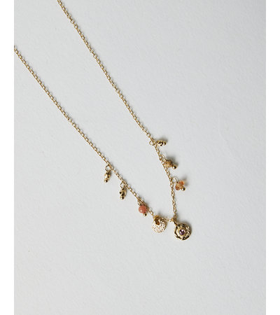 5 Octobre BIJOU TOURMALINE ROSE NECKLACE