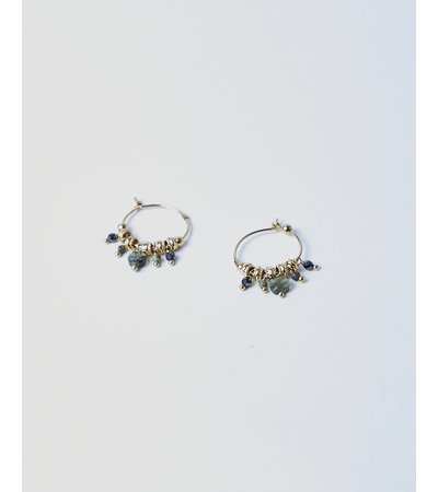 5 Octobre MINI CHARM HOOP EARRINGS