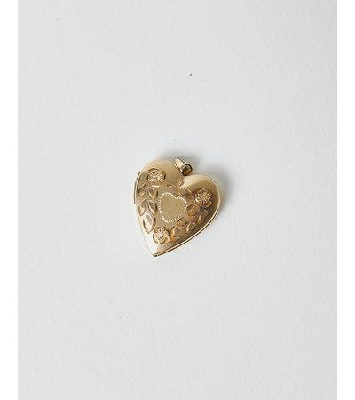 Vintage TRIPLE THREAT HEART LOCKET NECKLACE