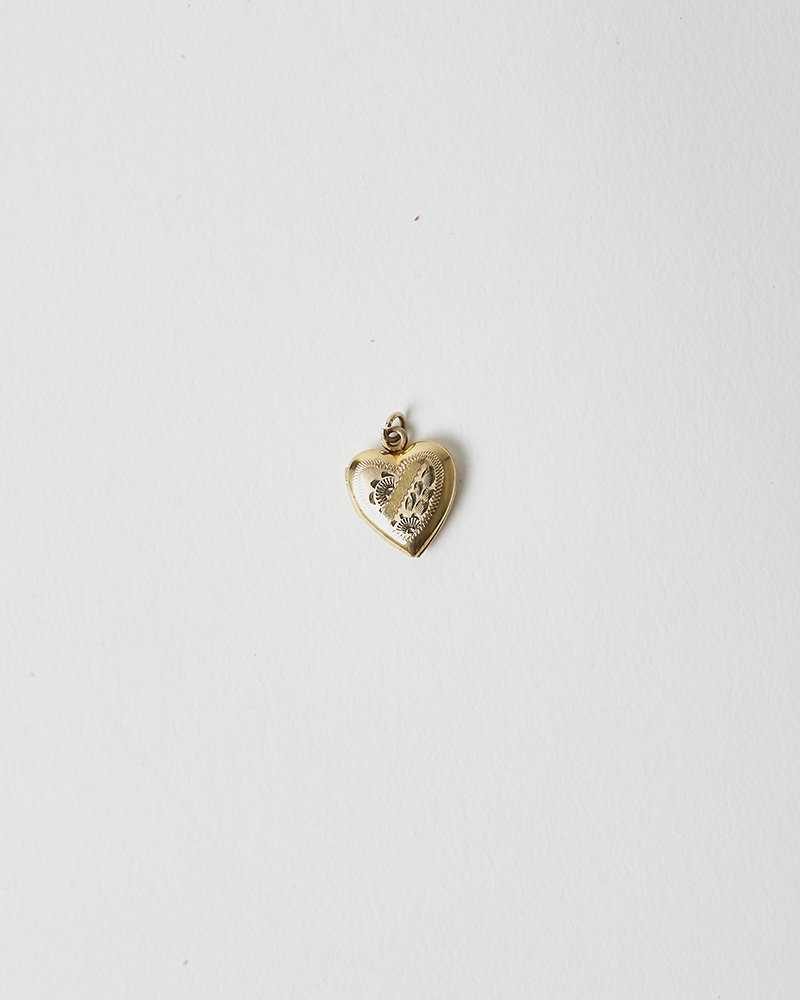 Vintage SUNSHINE MINI HEART LOCKET NECKLACE
