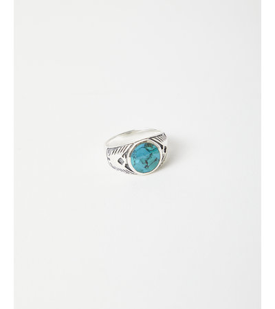 Vintage EARTH FALCON TURQUOISE RING