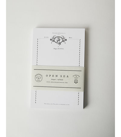 Open Sea ROSE HAND NOTEPAD