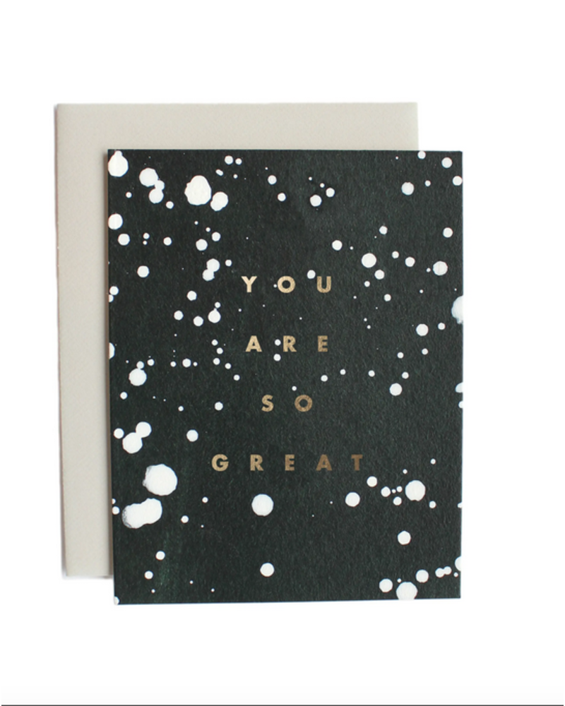 Moglea GREAT DRIP GREETING CARD