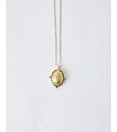 La2L SCARAB BEETLE LONG NECKLACE
