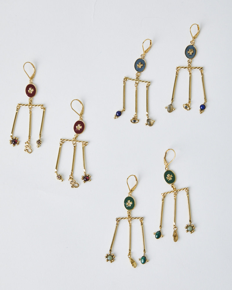 La2L LUCKY CHANDELIER EARRINGS