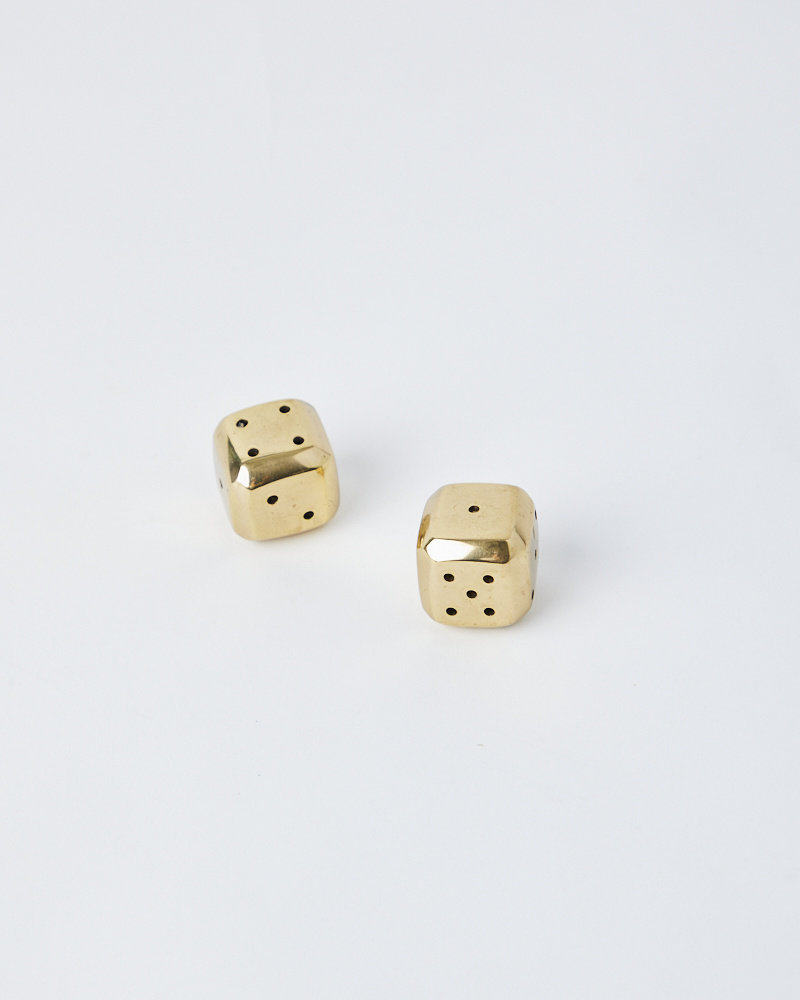 Sir Madam BRASS BEVELLED DICE