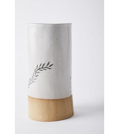 Long Lost Ceramics TALL STICK-N-POKE VASE