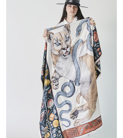 Sabina Savage THE COUGAR AND THE SERPENT LARGE SCARF