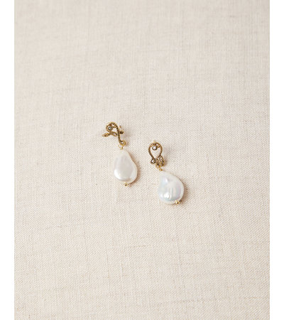 La2L SERPENT FRESHWATER PEARL DROP EARRINGS