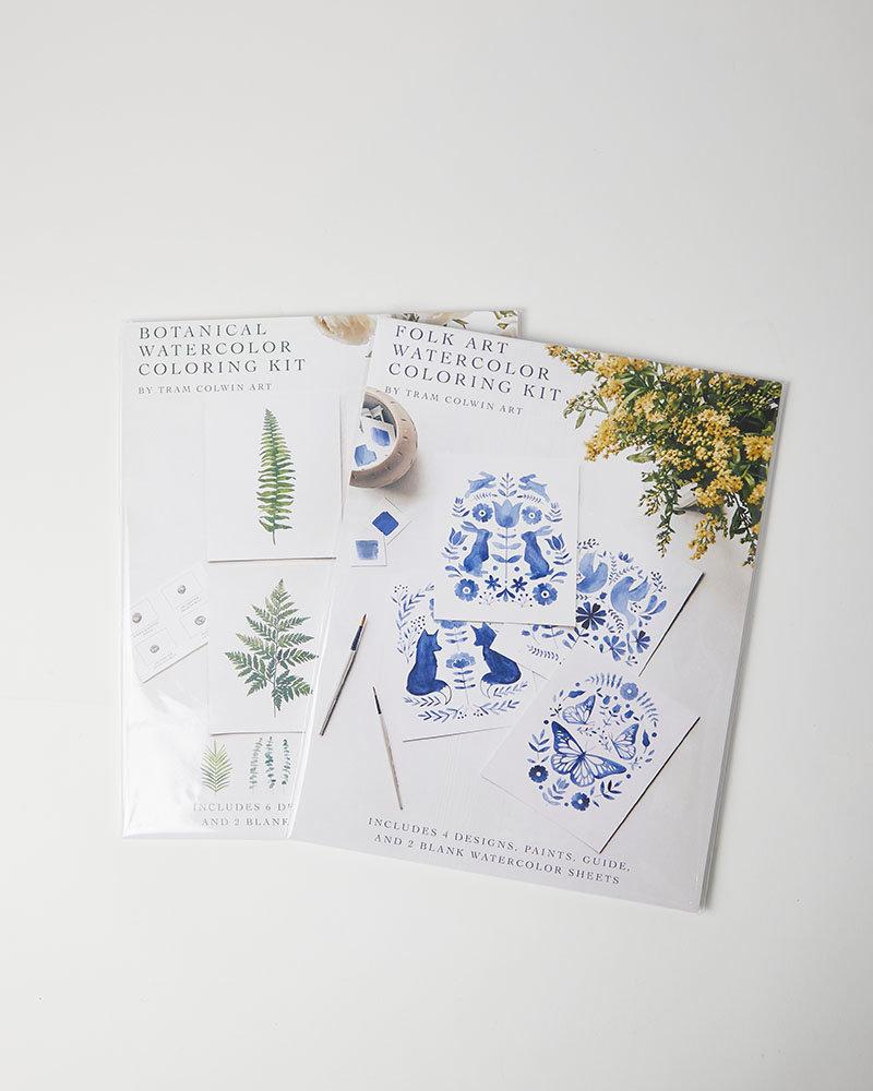 Tram Colwin Art Botanical Watercolor Kit