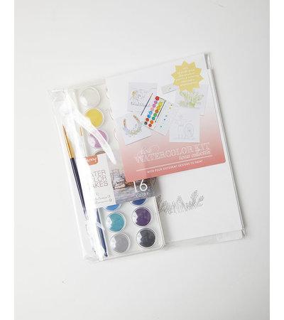 Color Box Design & Letterpress LUXE KIDS WATERCOLOR KIT