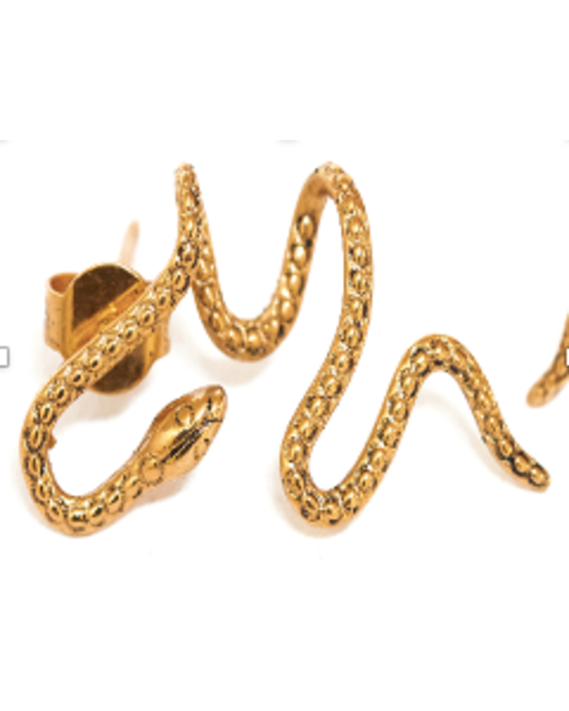La2L Serpent Coil Earring