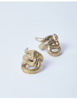 Saint Claude Water Moccasin Ring Brass