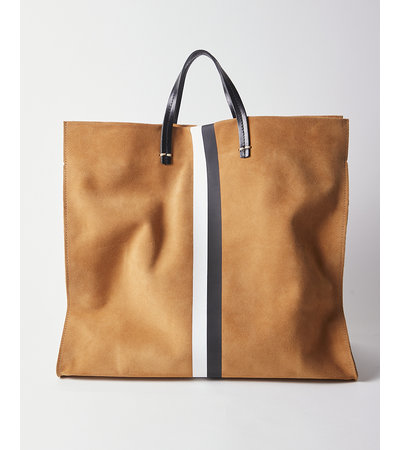 Clare V SIMPLE TOTE IN CAMEL SUEDE