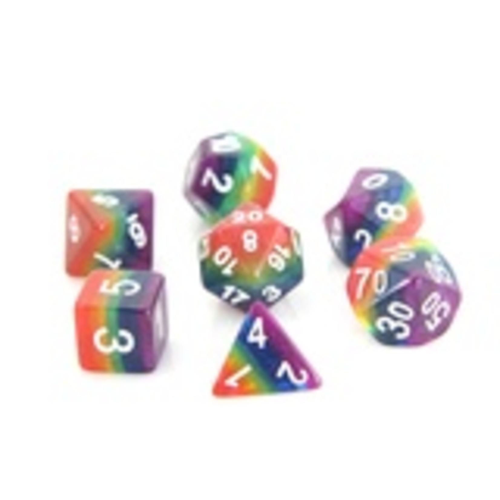 Die Hard Dice Die Hard Dice: Polyhedral Dice Set - Rainbow